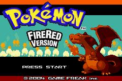 FireRed title screen.