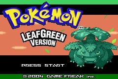 LeafGreen title screen.