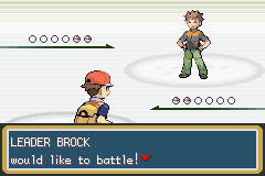 Brock; the first of eight Gym Leaders.