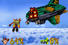 The shooting stages task Crash with destroying several blimps.