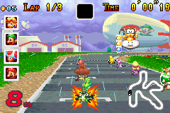 The Mario Kart: Super Circuit version of the technique.