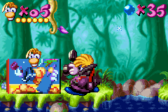 Limited cartridge space caused the developers to compress the graphics to pixelated detail.