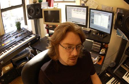 Jesper Kyd in his studio