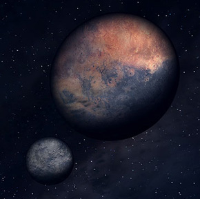 The two moons, Masser and Secunda