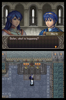 Marth and Elice as they appear in the prologue of Fire Emblem: Shadow Dragon.