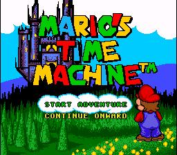 Title Screen of Mario's Time Machine