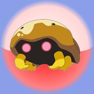 Chikorita easily makes this pokemon, Kabuto, faint.