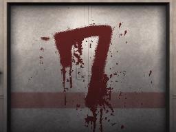 Door with the number 7