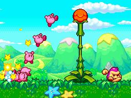 Multiple Kirbys being controlled simultaneously.