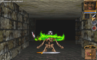 The way dudes will just turn into skeletons when you kill them is very metal, very good.