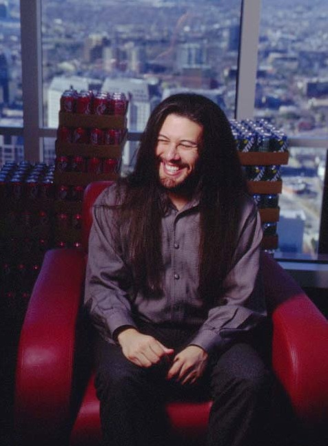 Romero, pictured in Ion Storm's lavish offices.