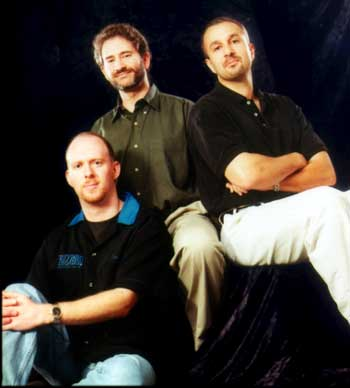 Founders of Blizzard (Left to Right): Pearce, Morhaime and Adham