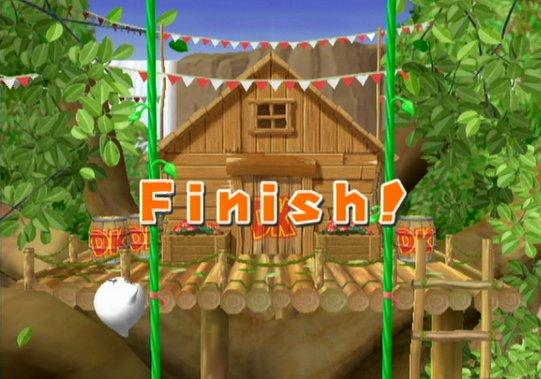 Boo just finished the minigame in Mario Party 7 and he is so happy that he finished it!