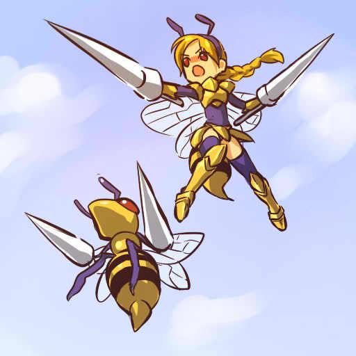 Vẽ Pokemon Beedrill chiến binh ong