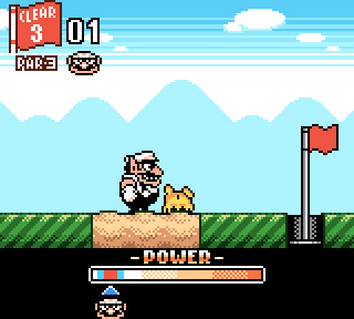 Wario has an opportunity to make a birdie.