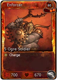 This Enforcer card requires 2 Fire Orbs to summon it into play