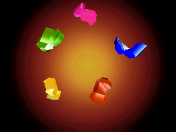 The 5 Sky Crystals.
