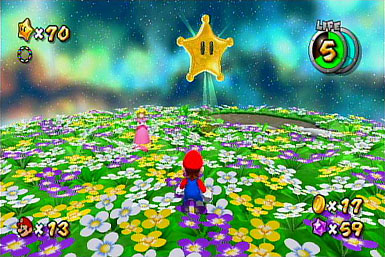 Mario now approaching the final Grand Star as seen in Super Mario Galaxy 2.