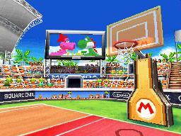 Mario Stadium as seen in Mario Hoops 3 on 3.