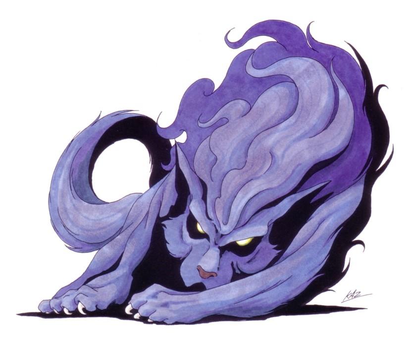 Fenrir, as he appears in Shin Megami tensei