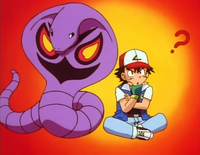 Ash attempts to remember Arbok's attacks.