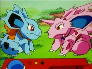 Nidorina and Nidoran on the Anime