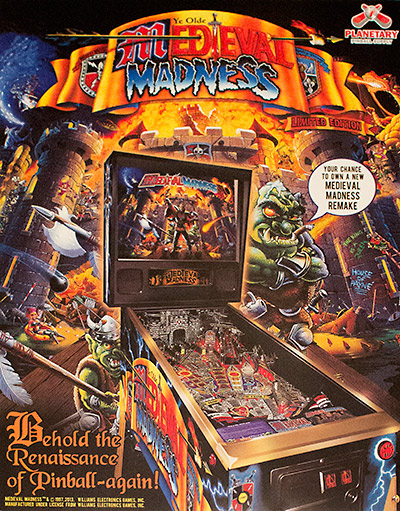 The flyer for the remake unveiled at Pinball Expo 2013