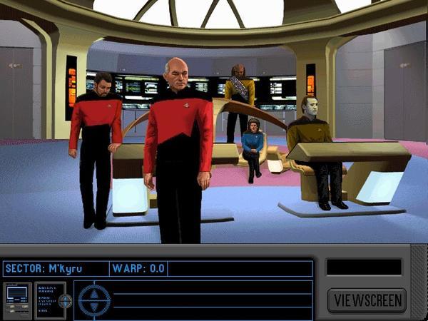 Aboard the bridge of the U.S.S. Enterprise