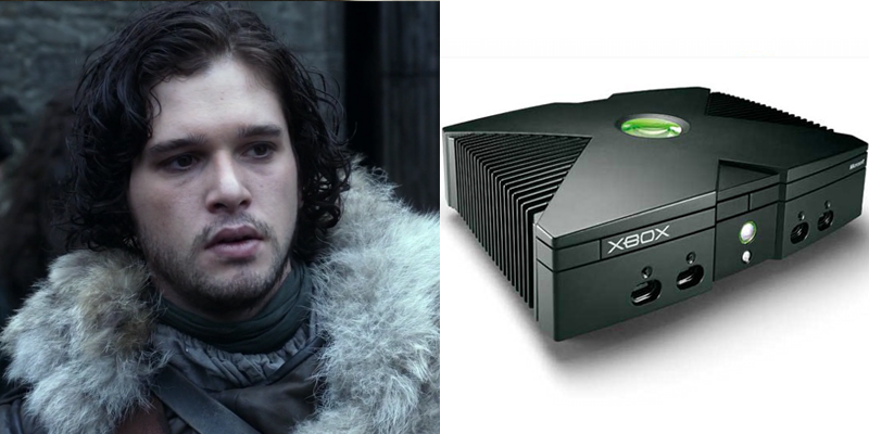 Jon – Xbox – Powerful for his years, but also awkward and a bit clunky. Wears black like it's going out of style.