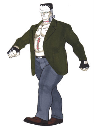 One of Victor's concept drawings that was more akin to the Universals Frankenstein.