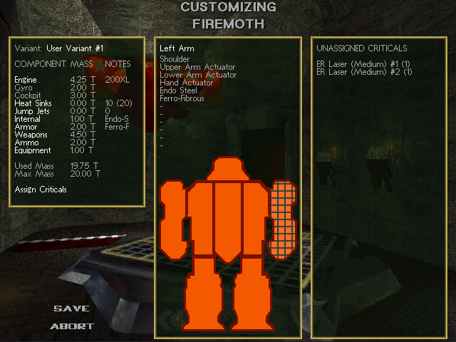 Missions have recommended 'Mechs, but customization is often preferable.