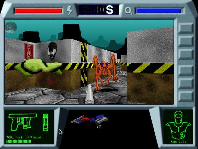 A screen capture of Marathon Zero, an early build of the game