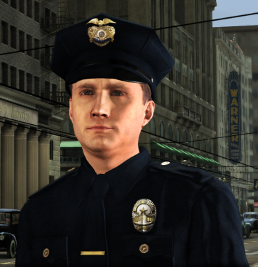 Cole Phelps, before he becomes a detective.