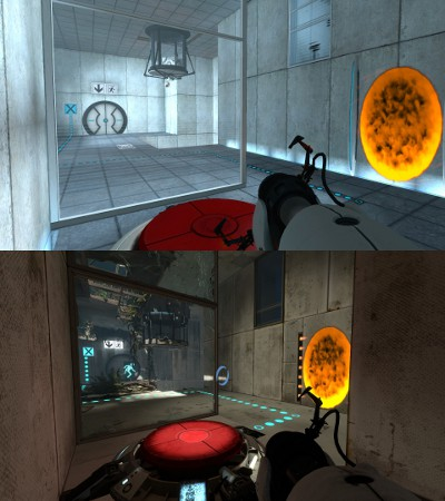 Some of the same test chambers from the first game.