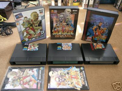 Typical AES packaging with games