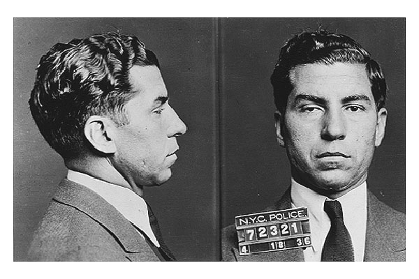 Lucky Luciano, considered to be the father of modern organized crime in the US.