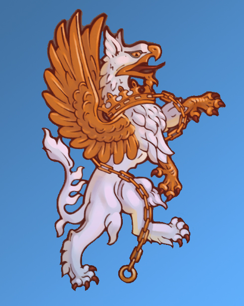 The imperial griffin, coat of arms of Heaven
