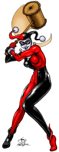 Harley Quinn with her mallet.