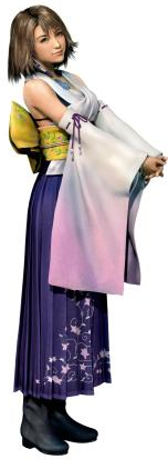 Yuna as she appears in FFX
