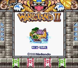 Wario Land II (GBC) enhanced on Super Game Boy