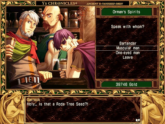 Ys actually lets you talk to people. Sometimes they give you hints, sometimes they sell you things, but often they just chat with you to provide world building or story. It's very impressive for the time.