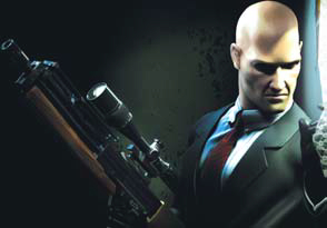 Agent 47 with a W2000 sniper rifle