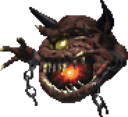 The Cacodemon as it appears in Doom 64.