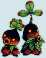 Two Deku Scubs, as depicted in Majora's Mask
