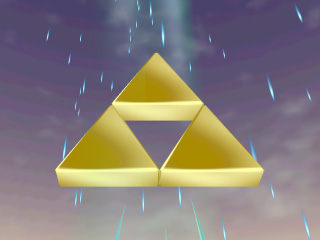 The Triforce - A sacred object left by the gods in Hyrule.