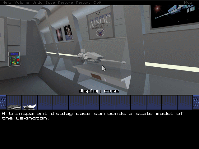 But first, I get distracted by a miniature model of the ship inside the ship. I always wondered why Picard had one of these. So did Commander Shepard, for that matter. Maybe they were fans of the Droste effect?