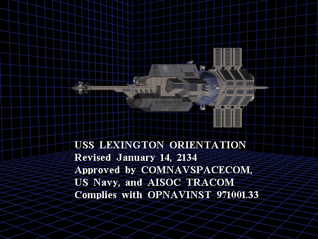 There's two programs loaded up: the first is a tour of the USS Lexington, which describes each of area of the ship in detail, explaining their function. It's yawn city, though I can't help but feel I ought to listen to it anyway. There might be hints.