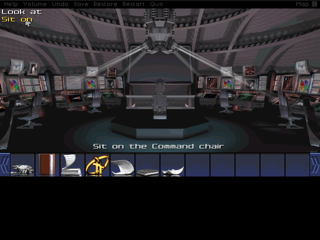 Deck 3 was largely a wash, at least as far as finding something to help us with those irradiated tunnels, so I decide to start searching the rest of the ship. First off, we head to the bridge to sit in the Captain's chair. Should've been the first thing I did after getting that elevator keycard, frankly.