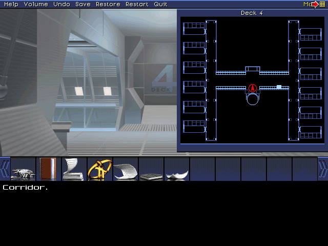 Deck 4 is all crew quarters, and I don't have override codes for any of these. Moving on.
