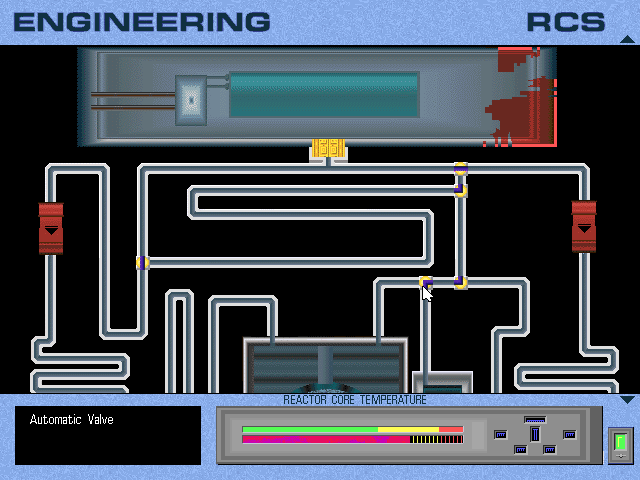 Yep, it's a variation on Pipe Dream. I've already messed up here, though, because those big yellow clasps need to be opened manually outside of this mini-game.